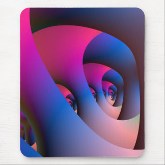 Labyrinth in Blue & Pink Mousepads
