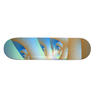 Labyrinth in Blue Skateboard