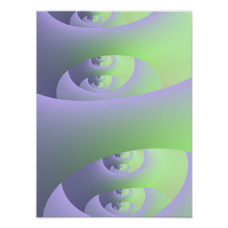 Labyrinth in Lilac and Green Poster