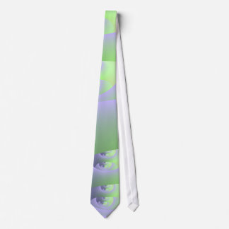 Labyrinth in Lilac and Green Tie