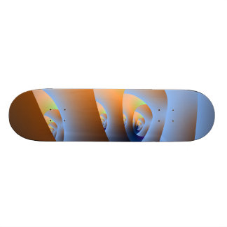Labyrinth in Orange and Blue Skateboard