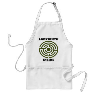 Labyrinth Inside (Psyche Psychological Humor) Adult Apron
