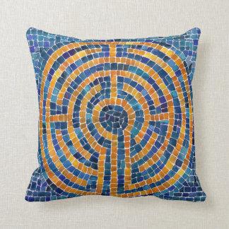 "Labyrinth IV 16"" x 16"" Cotton Throw Pillow"