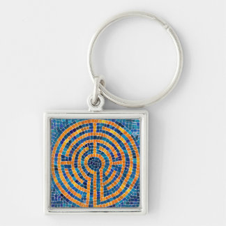 Labyrinth IV Premium Square Keychain