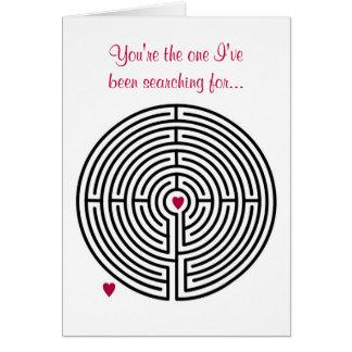 Labyrinth Love Valentine's Day Greeting Card