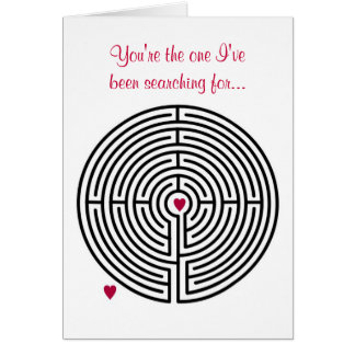 Labyrinth Love Valentine's Day Greeting Cards