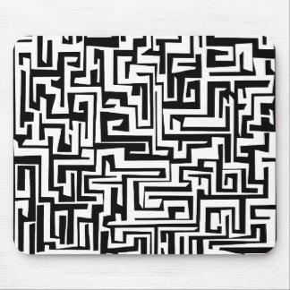 Labyrinth, maze design mousepad