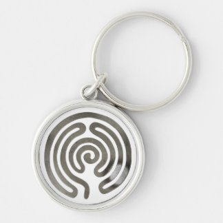 labyrinth more antiquesilver | make your own backg keychain