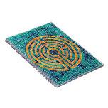 Labyrinth Mosaic II Photo Notebook