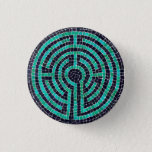 Labyrinth Mosaic III Round Button