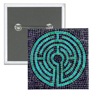 Labyrinth Mosaic III Square Button