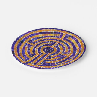 Labyrinth Mosaic Paper Plate 7 Inch Paper Plate
