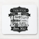 Labyrinth Quote You Have No Power Over Me Mouse Pad