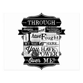 Labyrinth Quote You Have No Power Over Me Postcard
