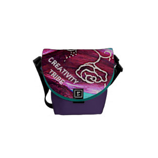 Labyrinth Rose Messenger Bag