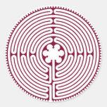 Labyrinth Round Stickers