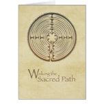 Labyrinth, Sacred Path, 12 Step Addiction Recovery Card