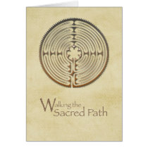 Labyrinth, Sacred Path, 12 Step Addiction Recovery Card