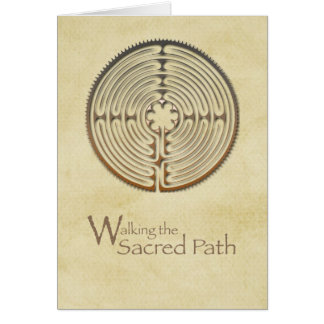 Labyrinth, Sacred Path, 12 Step Addiction Recovery Greeting Card