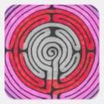 Labyrinth Square Sticker