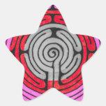 Labyrinth Star Sticker