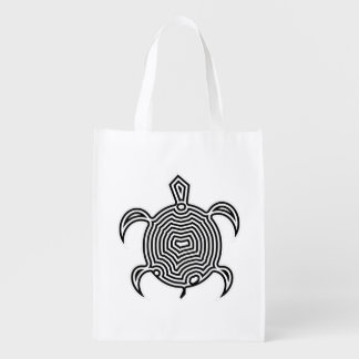 Labyrinth Turtle Grocery Bag