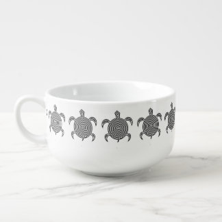 Labyrinth Turtle Soup Bowl With Handle