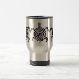 Labyrinth Turtle Travel Mugs