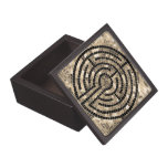 "Labyrinth V 3"" x 3"" Magnetic Wooden Gift Box"