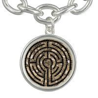 Labyrinth V Charm Bracelet - Silver Plated