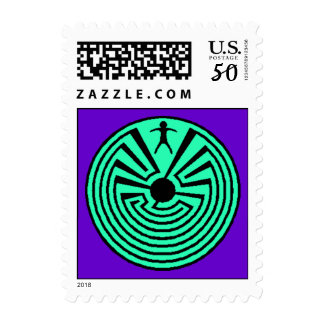 Labyrinth Walker Postage Stamp Quiet Inner Search