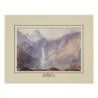 Lac d' Oo,Pyrenees. Poster