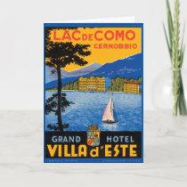 Lac de Como Card