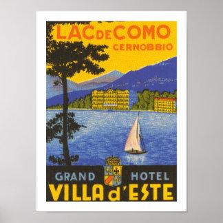 Lac de Como (white) Poster