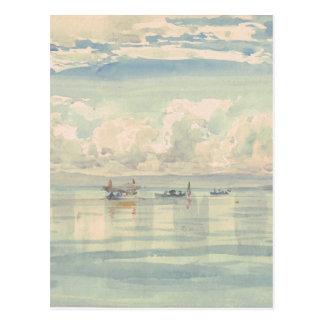 Lac Leman François Bocion Watercolor Postcard