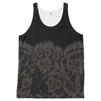 Lace 2 All-Over print tank top