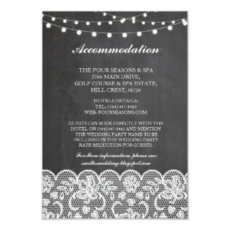 Lace Accommodation Chalk Lights Wedding Cards
