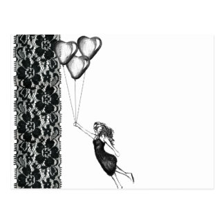Lace and Balloons Postcard