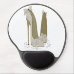 """Lace and Bows Stiletto Shoe Art Gel Mousepad<br><div class=""""desc"""">for stiletto lovers</div>"""