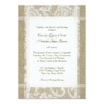 Lace and Burlap Country Romance 7x5 Wedding Personalized Invitations