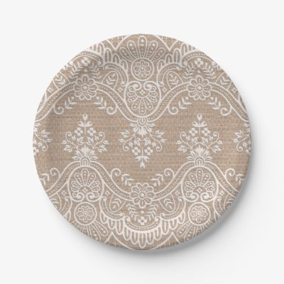 Burlap and Lace Shabby Chic Paper Plates | Zazzle.com. Burlap And Lace Shabby Chic Paper Plates Zazzle Com  sc 1 st  Best Image Engine & Amusing Burlap And Lace Paper Plates Ideas - Best Image Engine ...
