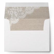Lace and burlap Rustic envelope IV