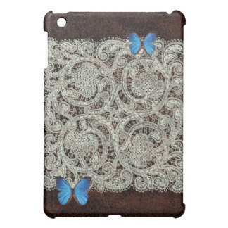 Lace and Butterflies Leather iPad Case