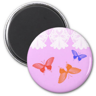 Lace and Butterflies Magnet