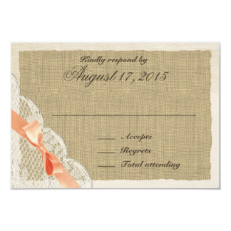 Lace and Coral Bow Country Response Card