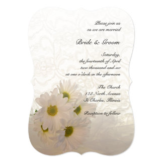 Lace and Daisies Wedding Invitation