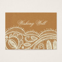Lace and Kraft Paper Wedding Business Card