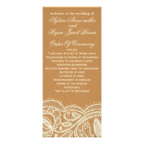 Lace and Kraft Paper Wedding Rack Card
