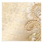 Lace and Pearl Needlework Custom Invites