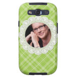 Lace and Plaid -butterfly on green- Samsung Galaxy SIII Case